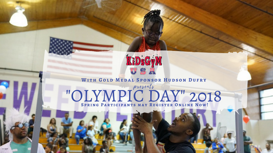 KidsGym Olympic Day Registration Banner image